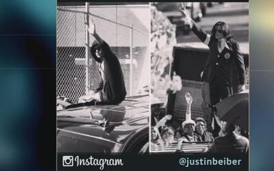 Justin Bieber publicó una foto comparándose con Michael Jackson
