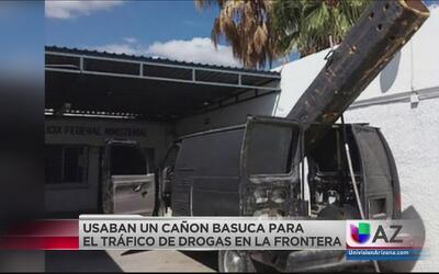 Decomisan camión basuca en la frontera que servía para el tráfico de drogas