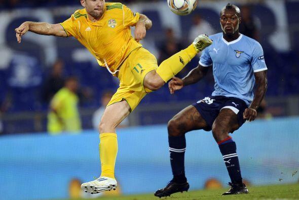 Aunque el equipo lazial se puso en ventaja con un penalti de Djibril Cis...