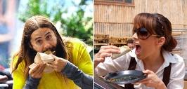 Famosos comiendo tacos