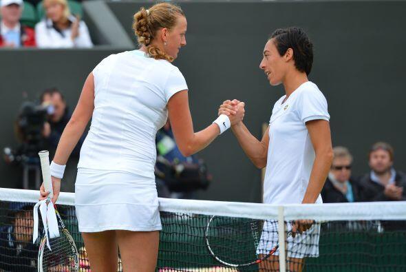 Kvitova derrotó a la italiana Francesca Schiavone por 4-6, 7-5, 6-1.