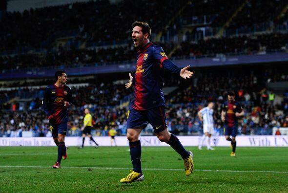 Leo Messi se apuntó un póker el domingo. Ante el Osasuna e...