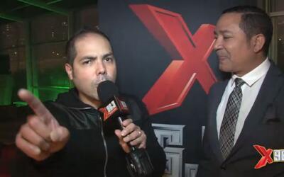 Frank Reyes y Toby Love en Lobo's Welcome to La X party
