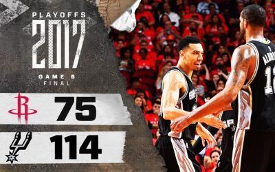 Los Spurs se enfrentarán a los Warriors en la Final del Oeste.