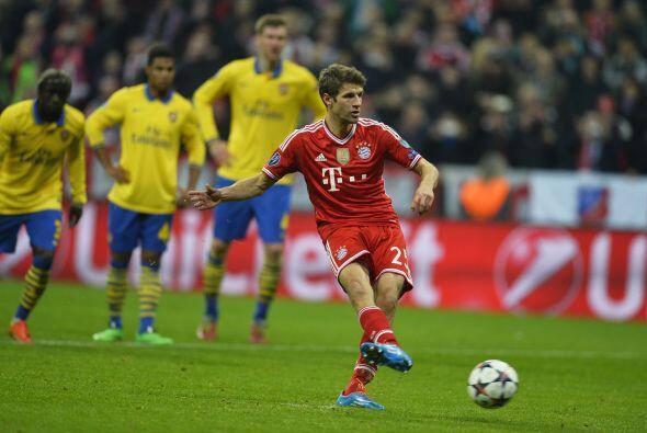 LO PEOR - Müller perdió le efectividad:   Bayern Munich logró el pase a...