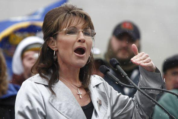La ex gobernadora de Alaska y ex candidata vicepresidencial, Sarah Palin...