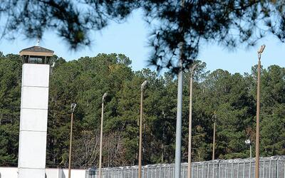 Una cárcel federal en Carolina del Norte.