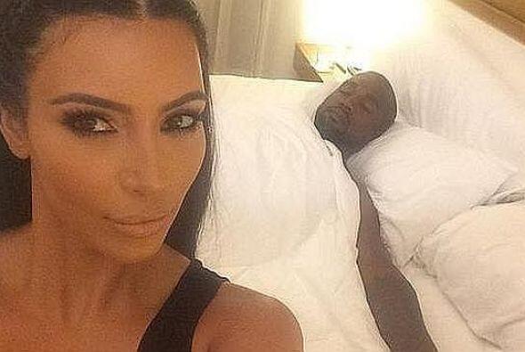 La que sacó otra bedstagram, pero a su marido, fue nuestra adorada Kim K...