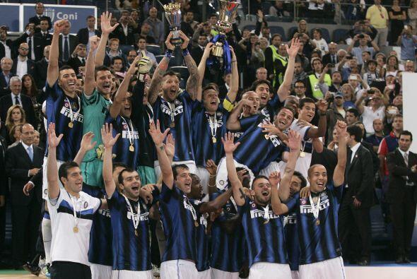 Inter de Milán no se quedó con las manos vacías y s...