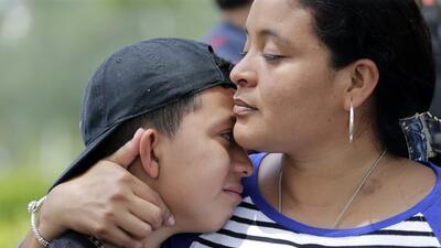 Entre los participantes en la protesta estaban Jenny, una inmigrante sal...