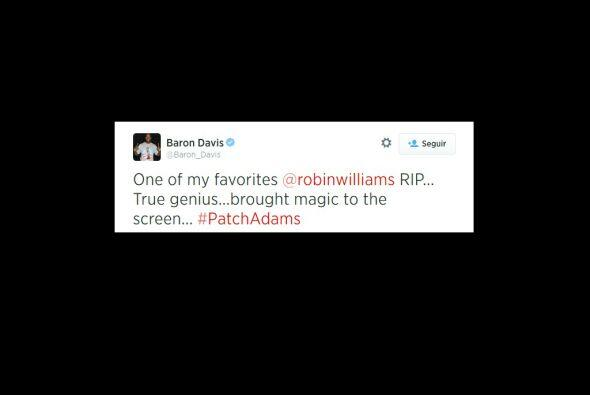 Baron Davis señaló que se fue uno de sus actores favoritos.