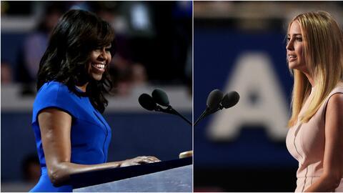 Michelle Obama e Ivanka Trump.