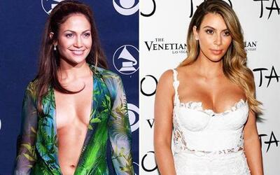 Jennifer Lopez y Kim Kardashian son famosas, sensuales y en ocasiones mu...