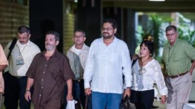 Miembros del comité negociador de las FARC en La Habana.