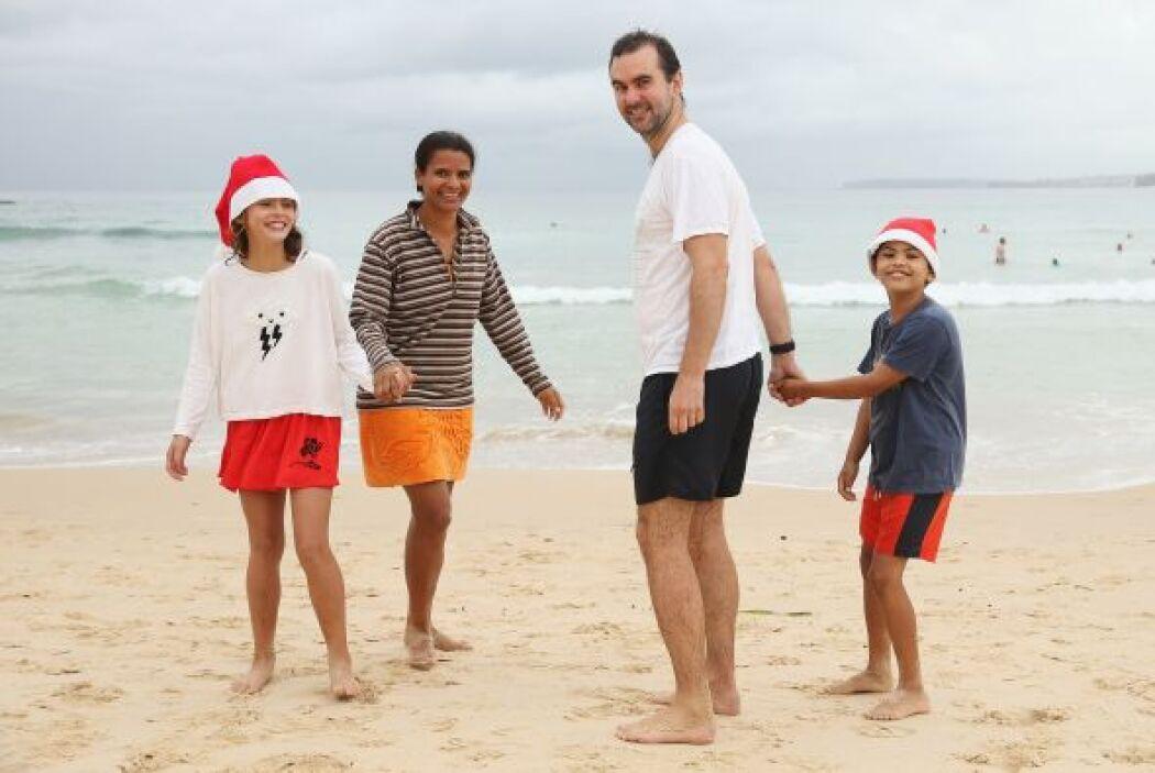 Los australianos que se caracterizan por ser muy atléticos, salen a disf...