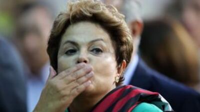 La Presidenta de Brasil, Dilma Rousseff.