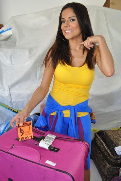 Cynthia llegó con una etiqueta en su maleta que decía 'pes...