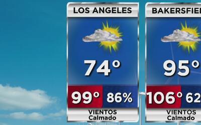 Cielo parcialmente nublado y temperatura fresca para este lunes en Los Á...