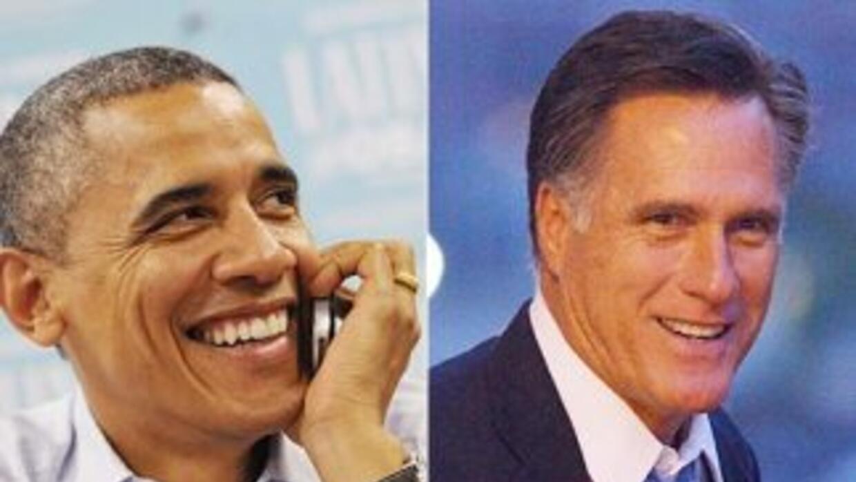 El Presidente de Estados Unidos, Barack Obama, y su rival republicano, M...
