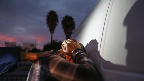 Una detención de ICE en Los Ángeles en 2005