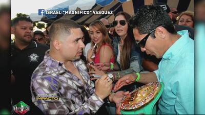 "Larry Hernández pidió perdón a Israel ""Magnifico"" Vásquez tras firmarle..."