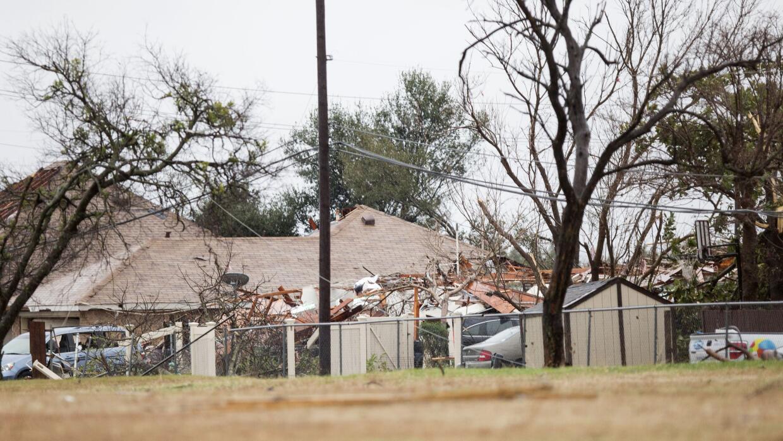 Algunos de los daños en Garland, Texas