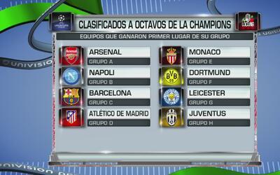 Todos los clasificados para jugar los octavos de final de la Champions