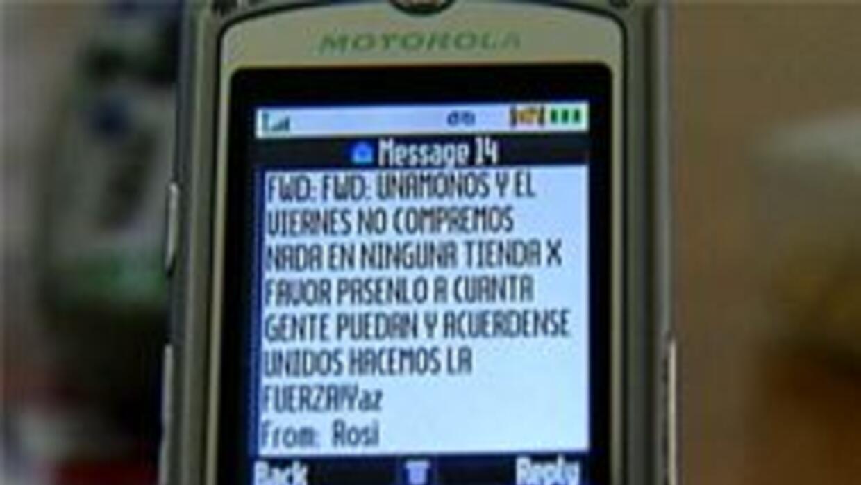 Mensaje de texto para el boycott