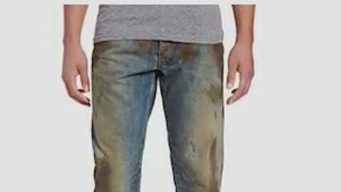 Jeans con lodo, la nueva y costosa tendencia de la moda en las redes soc...