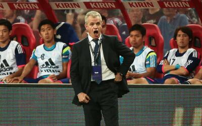 Javier Aguirre durante su etapa como seleccionador de Japón.