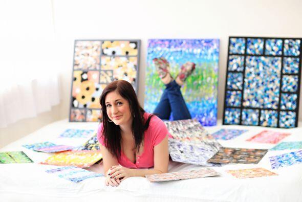 La peculiar artista tiene cinco métodos que usa para crear sus obras de...