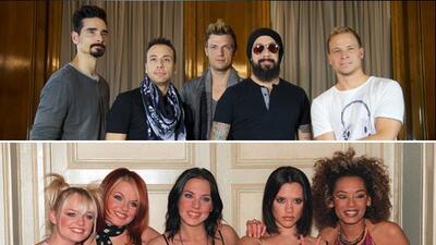 Backstreet Boys y Spice Girls dominaron el mercado musical pop en los 90.