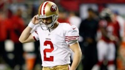 David Akers no pudo ganar el Super Bowl con los 49ers.