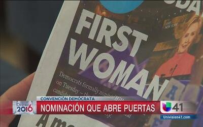 Nominación de Hillary Clinton inspira a otras mujeres