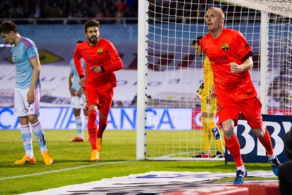 Fue Jérémy Mathieu el autor del gol, defensa central, el que le daba la...