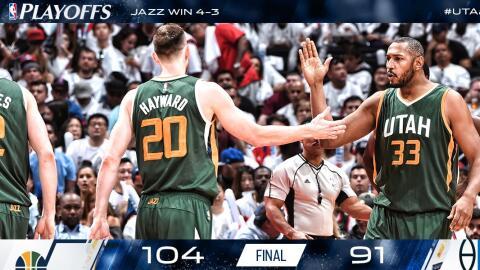 El Jazz de Utah ganaron el juego 7 en Los Angeles a los Clippers.