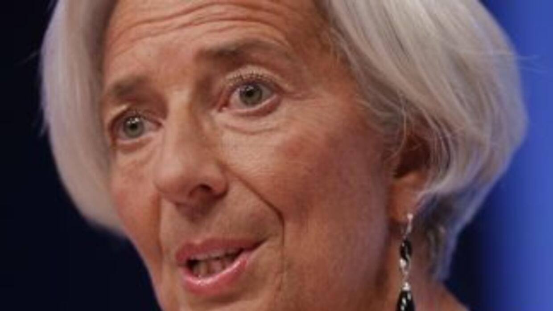 Christine Lagarde, directora gerente del Fondo Monetario Internacional (...