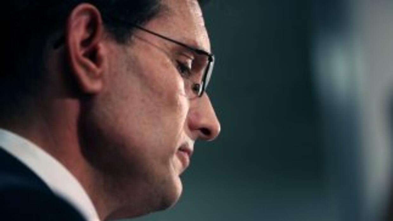 El congresista Eric Cantor, líder de la mayoría republicana en la Cámara...