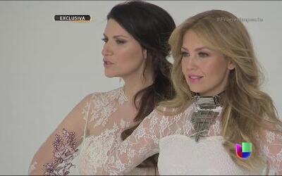 """Exclusiva con Laura Pausini y Thalía que unieron sus voces en el tema """"S..."""