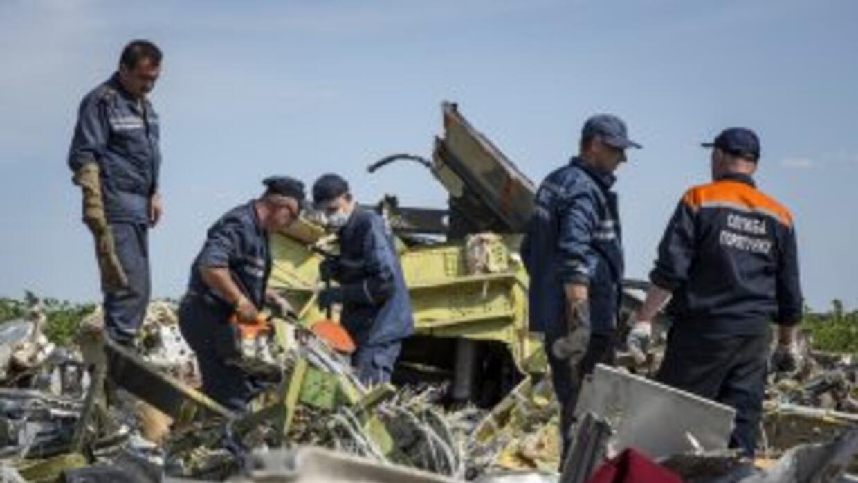 El vuelo MH17 fue derribado por un misil.