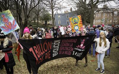 Hispanas marcha mujeres