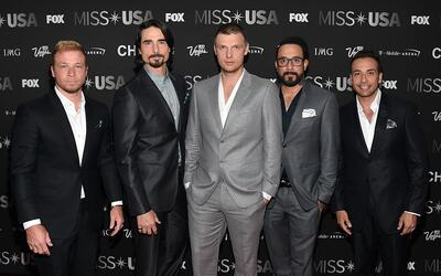 Los cantantes Brian Littrell, Kevin Richardson, Nick Carter, A.J. McLean...
