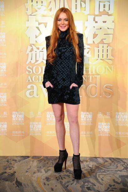¡A Lindsay Lohan  le robaron el cuello! Horrendo este 'modelito' q...