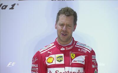 Sebastián Vettel mostró su amor por Ferrari e Italia