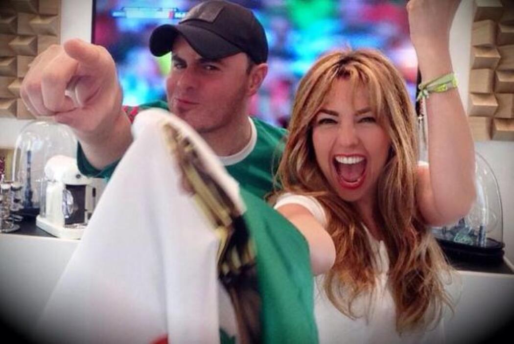 Thalía se puso feliz.Todo sobre el Mundial de Brasil 2014.