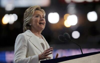 Hillary Clinton aceptó la nominación por el Partido Demócrata a la presi...