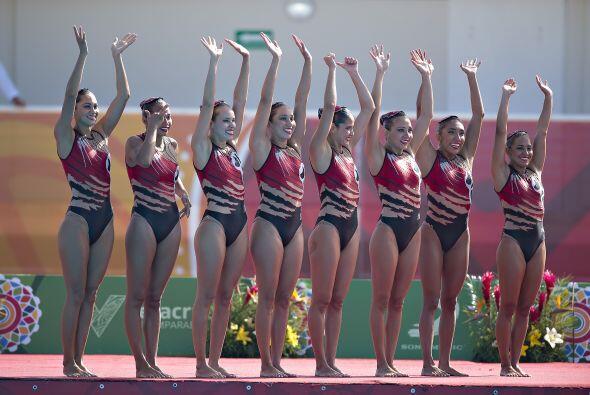 La selección mexicana de nado sincronizado culminó invicta su participac...