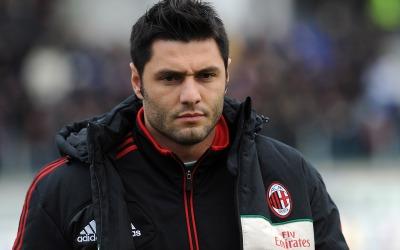 Marco Amelia cuando jugaba con el Milan de la Serie A,