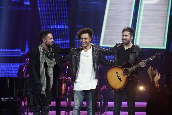 Frank Francisco con Mario Domm y Pablo Hurtado.