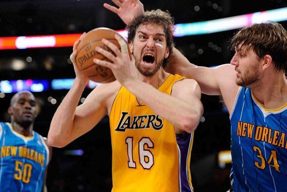 Pau Gasol de los Lakers de Los Angeles. El catalán a perdido velocidad,...